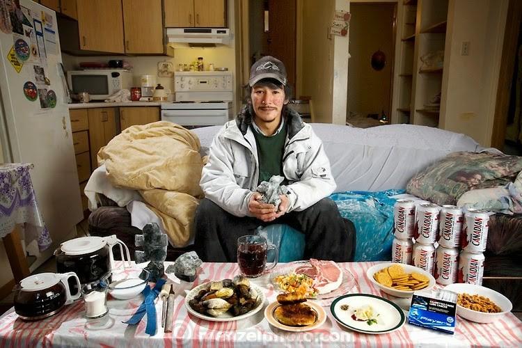 Канадын чулуун сийлбэрчин Вилэй Ишулутак өдөрт 4700 ккал хүнс хэрэглэдэг. 29 настай тэрээр 175 см өндөр, 64 кг жинтэй.
